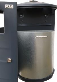 Hundetoiletten Kombination Edelstahl | comodul BASIC Smoke