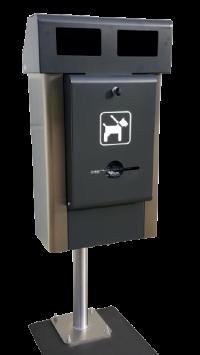 Hundetoiletten Station Edelstahl | comodul COMPACT