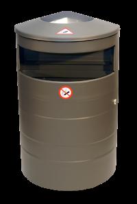 Abfallbehälter 70L - Ascher Kombination | comodul BARREL RAL
